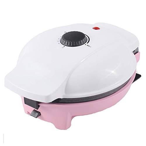 Waffeleisen, Donut maker Frühlingsrolle-maschine Abnehmbare Multifunktion Pizzamaker Pflegeleicht Pizzamaker-Rosa 25x23x13cm(10x9x5inch)