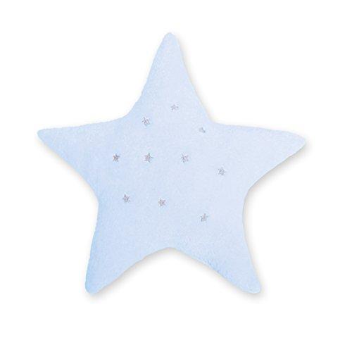 BEMINI - Coussin spécial bébé et/ou enfant - en forme d'étoile Bleu pale 30 cm - Ultra moelleux