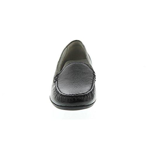 Waldläufer Hina, Mokassin, Lack- / Glattleder, schwarz / grau, Weite H 437502-401-001 Schwarz / Grau