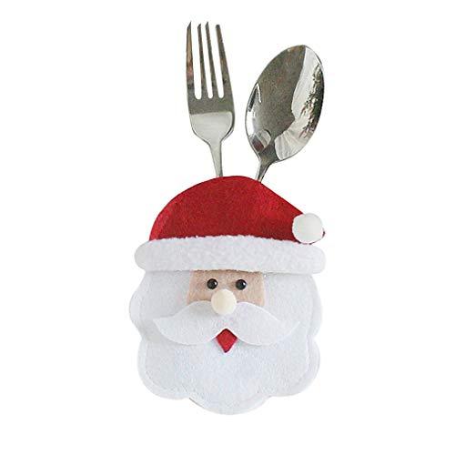 Weihnachten Besteck-Taschen Gesicht Runde alte Modelle Weihnachtsdekoration, Weihnachten Festliche Atmosphäre