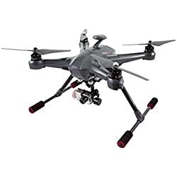 XciteRC 15003300 - Cuadrocóptero Scout X4 RTF - Dron FPV con cámara HD completa y cámara iLook, 3D-Gimbal, GPS, base, batería, cargador y mando a distancia Devo F12E con un monitor a color integrado