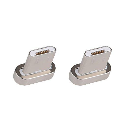 Liamoo 2 Stück Magnet Micro-USB Adapter Set Magnetkabel - Stecker - Set für magentisches Ladekabel -