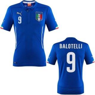 Puma Italien Home Trikot WM 2014 Mario Balotelli Herren Blau, 7472490101_Größe:L -