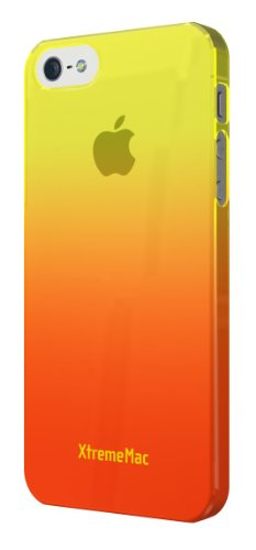 XtremeMac IPP-MFN-03 Microshield Fade Schutzhülle für Apple iPhone 5 transparent/grau Gelb/Orange