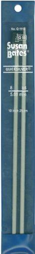 Susan Bates Quicksilver Single Point Knitting Needles 10