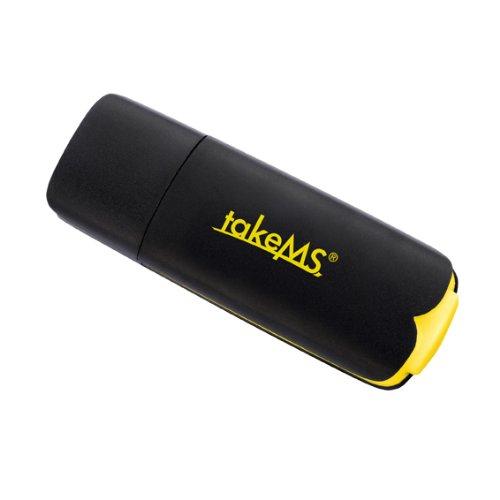 121698takeMS 16GB Füllfederhalter Flash, USB 2.0, Auswahl des Zahnstocher, Schwarz/Gelb