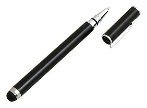 System-S 2 in 1 Stylus Touch Pen kapazitiver Bildschirm Eingabe Stift Kugelschreiber Schwarz für Tablet PC, Smartphone, Handy, PDA Handy Pda Smartphone
