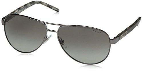 Ralph Lauren Purple Label Damen RA4004 Sonnenbrille, Grau (Gunmetal Grey Horn 103/11), One size (Herstellergröße: 59)