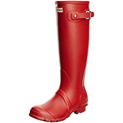 Hunter Original Tall Classic, Botas de Agua para Unisex Adulto, Rojo (Military Red), 38 EU