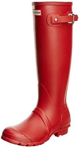 Hunter Original Tall Wellington, Damen Gummistiefel, Rot (Military Red), 40/41 EU