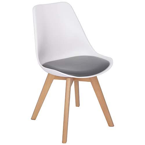 WOLTU BH97wgr-1 1 x Esszimmerstuhl 1 Stück Esszimmerstuhl Design Stuhl Küchenstuhl Wohnz