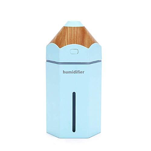 230Ml Ultraschall-Bleistift-Kabinen-Luftbefeuchter, Mini-Kälte-Nebel-Ultraschall-Luft-Reinigung-Luftbefeuchter, Geeignet Für Yoga/Spa / Baby-Raum/Wohnzimmer,Blue