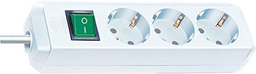 Oferta de Brennenstuhl Eco-Line regleta de enchufes con 3 tomas de corriente (cable de 1,5 m, interruptor) blanco