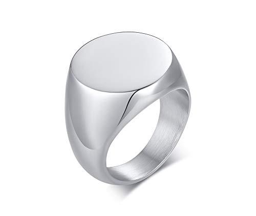 XUANPAI Edelstahl Feuerbestattung Schmuck für Asche Halter Feuerbestattung Urne Finger Siegelring Asche Ring Memorial Schmuck, Größe 59 (18.8) (Feuerbestattung Ringe)