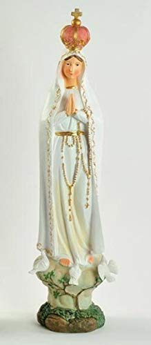 LE STELLE Estatua de la Virgen de Fátima, 38 cm, de Resina