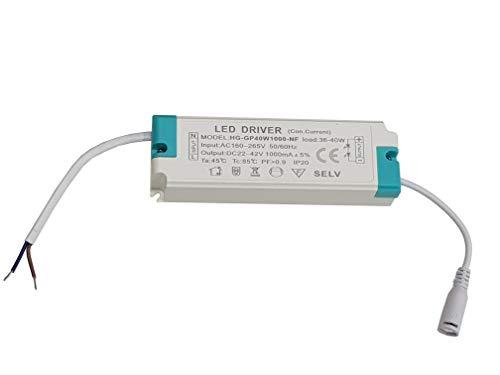 Netzteil/ Transformator für Lichter, 40 W LED, 60 x 60, Gleichstrom 22 - 42 V, Wechselstrom 160 - 265 V -