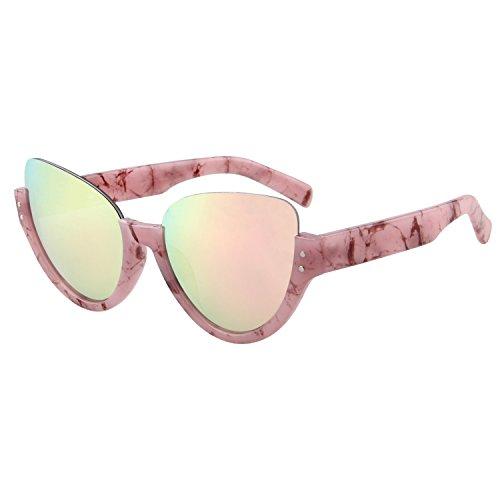 LianSan Einzigartige Aviator Sonnenbrille, halber Rahmen UV-Schutz Brillen ls4703Pink