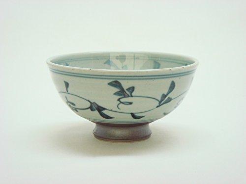 Tateyama-Do Hasami Vaisselle Japonaise Bol à Riz Grand '' Furuzome-karakusa '' fabriqué au Japon DSCO3247