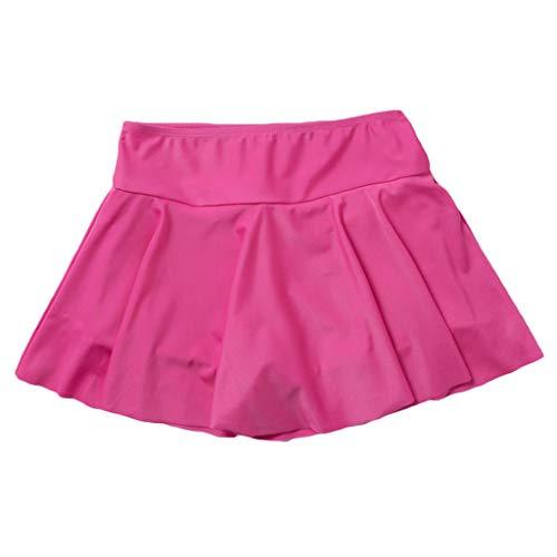 Bikini Damen Set Push Up Für Kleine Brüste Frauen Hoch Taillierte Swim Bottom Athletic Badeanzüge Tankini Rock Mit Panty Hot Rosa