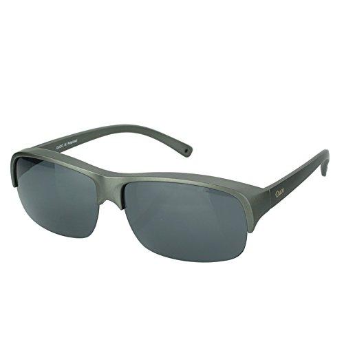 DUCO Herren und Damen Sonnenbrillen Polarisiert Unisex Brille Überbrille für Brillenträger Fit-over Polbrille, Halbrand 8953T