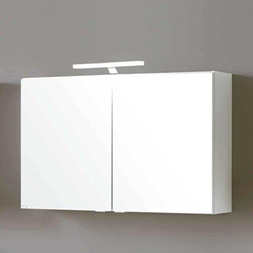 #Bad Spiegelschrank Select in Weiß Matt Breite 80 cm Ohne Beleuchtung Pharao24#