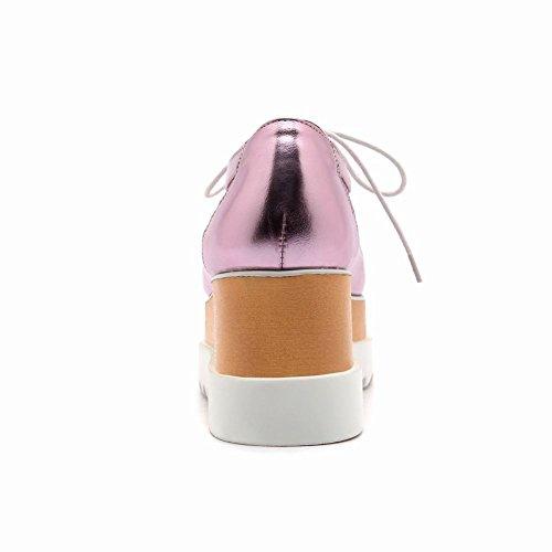 MissSaSa Femmes Escarpins Plate Forme Perméable à l'Air Rose