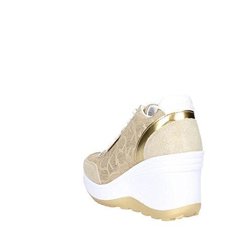 Calvin Klein Jeans RE9695 Sneakers Femme Suède/tissu Or