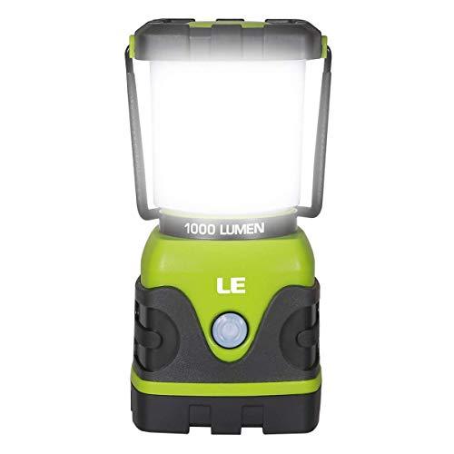 LE LED Campinglampe, Ultra Hell 1000 Lumen, 3 Helligkeiten Dimmbar Suchscheinwerfer, Batteriebetrieben Notfallleuchte für Stromausfällen, Wandern, Notfall, Ausfälle usw.