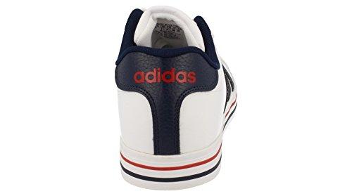 adidas Weekly, Chaussures de Sport Homme, Blanc Blanc (blanc Footwear / bleu marine collégial / rouge puissant)