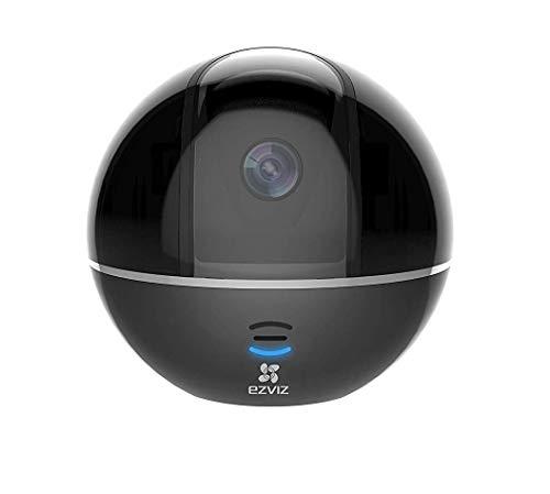 EZVIZ C6T(Schwarz), 1080p Full HD WLAN Schwenk-/Neige-Kamera mit Nachtsicht, Überwachungskamera mit Mikrofon und Lautsprecher, Smart Tracking, Smart Privacy Mask, Cloud-Service verfügbar