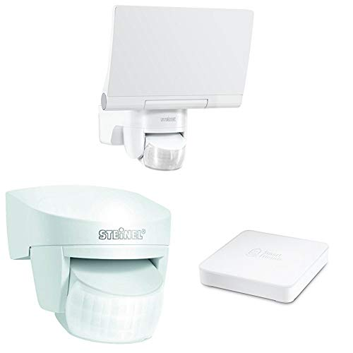 Steinel Smart Friends Set Strahler weiß, inkl. Smart Friends Box + Bewegungsmelder + LED Strahler, Smart Home, Z-Wave