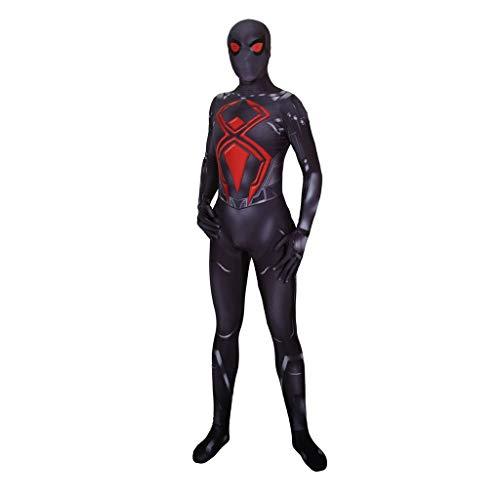 YEGEYA Spiderman Halloween Cosplay Dark Warrior Strumpfhose Kopfbedeckung Separation Adult Kinderfest Requisiten (Color : Child, Size : - Dark Spiderman Kostüm