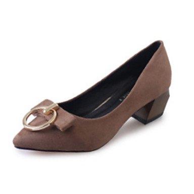 Sanmulyh Femmes Chaussures Printemps Automne Confort Talons Bout Pointu Pour Casual Kaki Vert Rouge Noir Kaki