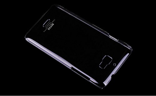 BEPAK Premium Crystal Clear Transparent Hard Slim Bumper Back Case Cover For Micromax Canvas Nitro A310 / A311