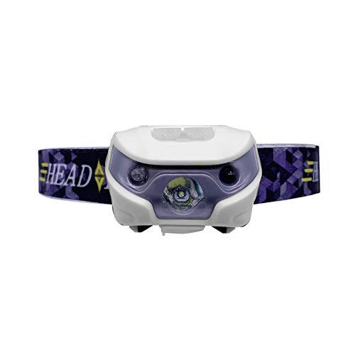 Winbang Scheinwerfer, Mini LED Scheinwerfer Körper Bewegungssensor Scheinwerfer Scheinwerfer Taschenlampe Lampe für Outdoor Sports Camping wiederaufladbar mit USB 3W 4000lm (Weiß)