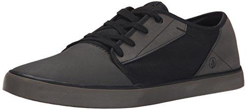 Volcom Grimm Shoe, Low-Top Sneaker uomo, Nero (Schwarz (New Black)), 37-39