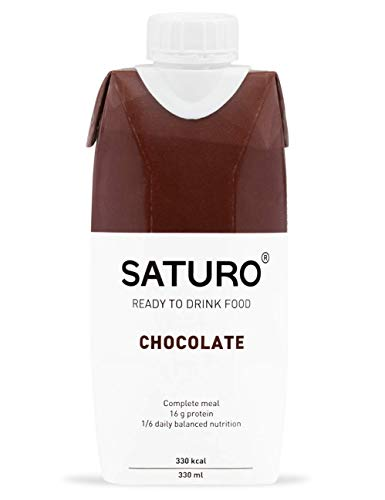 Mahlzeitenersatz Saturo Schokolade, 330 kcal, Trinknahrung mit Hochwertigem Protein, Astronautennahrung, Notration, Bekannt aus dem TV, 8 x 330 ml