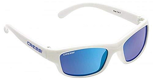 Cressi Swim Kinder Jogi Kid'S Sunglasses Sonnenbrille, Weiß/Linsen Blau, 2/6 Jahre