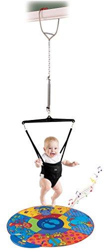 L'originale jolly jumper, altalena da porta per l'esercizio ginnico del bebè, con tappetino musicale