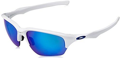 Oakley Herren Flak Beta 936303 64 Sonnenbrille, Weiß (Polished White/Sapphireiridium),