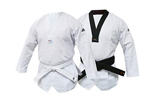 6548cedfd483f adidas WT Taekwondo Club Dobok Without Stripes Martial Arts Uniform (Black  Collar