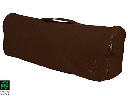 Sac à tapis de yoga Chic et Cool 100% Coton Bio 82cm X 17cm - Chocolat
