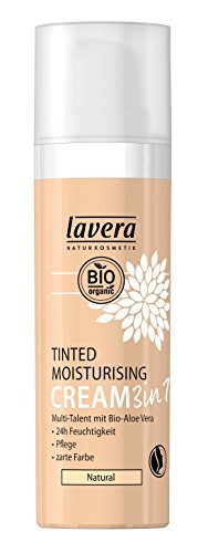 lavera Getönte Feuchtigkeitscreme 3in1 Foundation ∙ Moisturising Cream ∙ Natural & innovative Make up  vegan  Bio Pflanzenwirkstoffe...
