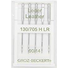 Groz-Beckert Paquete de 10 Piel de Agujas 130/705H LR con Plano pistón