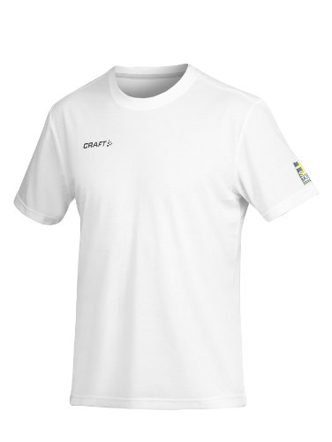 CRAFT Swe Active Run Tee Men Team SwedenS, white 9900 - Active Run Tee
