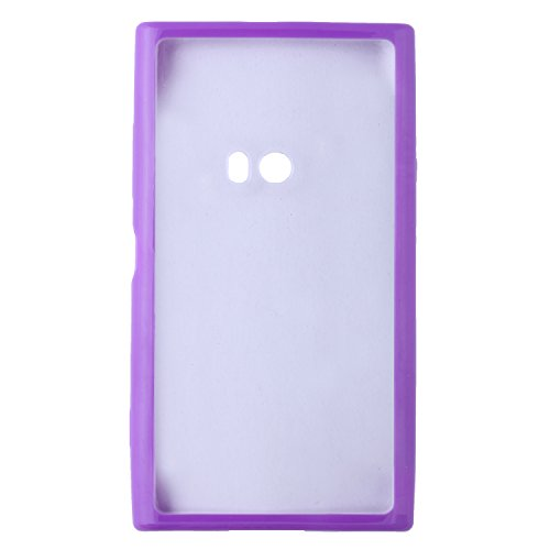 iCandy™ Ultra Slim Bumper Snap-on TPU Back Cover For Nokia Lumia 920 - Purple  available at amazon for Rs.160