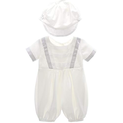 AHAHA Baby Jungen Taufkleider für Besondere Anlässe Taufe Strampler