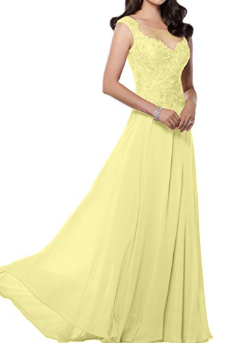 Victory bridal impression chiffon motif brautmutter long abendkleider ballkleider prom partykleider 2015 Hell Gelb