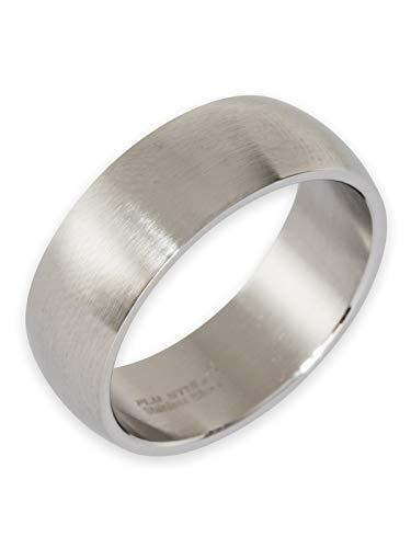Poliert Matt (Fly Style Ring Herren Edelstahl · Bandring 8-12 mm breit · matt oder poliert, Ring Grösse:16.2 mm, Oberfläche:8mm Matt)