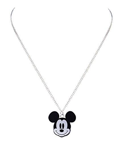 SIX Disney Adults, Micky Maus Kopf,Halskette, Anhänger, Silber (758-177)